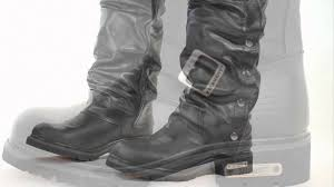 black boots motorcycle 1445 xelement men u0027s motorcycle steel toe engineer boot at