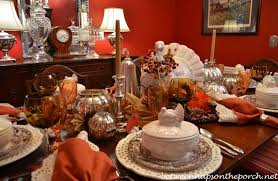 thanksgiving tablescape table setting with pottery barn rustic