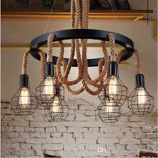 Vintage Pendant Light Fixtures Retro Led Rope Pendant Lights Edison Industrial Pendant Light