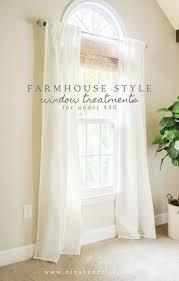 Window Coverings For Living Room by 25 Best Farmhouse Window Treatments Ideas On Pinterest Window