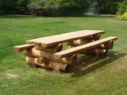 tables made from logs solid western red cedar log picnic table