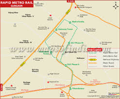 Metro Blue Line Map Delhi by Il U0026fs Rapid Metro Route Map Gurgaon Phase 1 Image