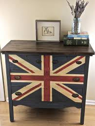 Painting A Flag Painting A Union Jack British Flag On A Dresser Tutorial Megmade