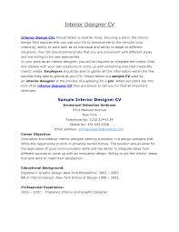 resume interior design resume templates