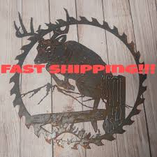 Deer Wall Decor Deer Wall Hanging Rustic Wall Decor Unfinished Metal Signs