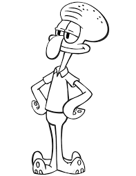 squidward spongebob cartoon coloring u0026 coloring pages