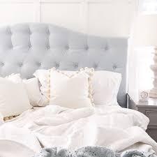 Grey Upholstered Headboard Enchanting Light Grey Headboard With Best 25 Grey Upholstered