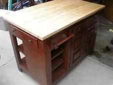 broyhill kitchen island attic heirlooms accessory table original oak by broyhill