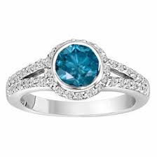 blue and white engagement rings platinum fancy blue engagement ring 1 44 carat halo handmade low