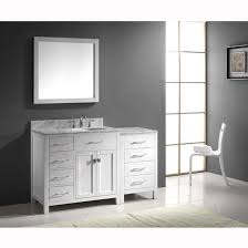 Bathroom Vanity With Drawers On Left Side Bathroom Vanities Virtu Usa 57 U0027 U0027 Caroline Parkway Single Round Or