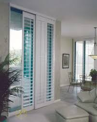 Bypass Shutters For Patio Doors Bypass Shutters For Sliding Glass Doors Home Living Rooms