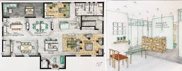 Hand Rendered Floor Plan Blog Bhc Of Design Cape Town