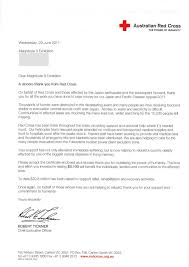 Charity Thank You Letter Sample red cross volunteer cover letter