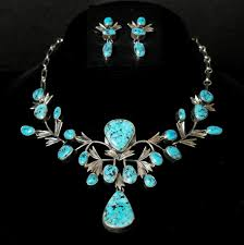 turquoise necklace earring set images 60 47 turquoise necklace earring set the adobe fine art JPG