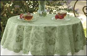 green lace tablecloth table topper 42 gorgeous