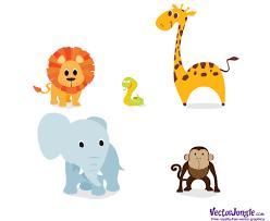 18 free printable safari animals vector images zoo jungle animal