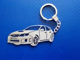 subaru custom subaru wrx key chain car keychain personalized keychain