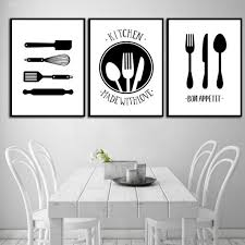 black and white prints for kitchen black white cooking with kitchen quote wall canvas