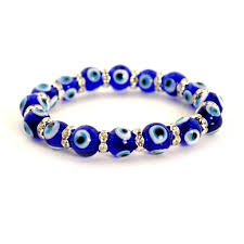 eye bracelet images Evil eye bead bracelet 10mm blue stretch good luck protection jpg
