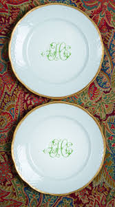monogrammed plate 104 best dinnerware monogrammed images on wedding
