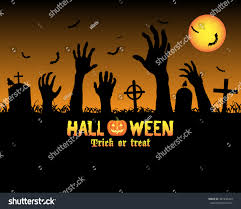halloween zombie background halloween zombies hand graveyard stock vector 487496494 shutterstock