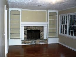 Fireplaces With Bookshelves by Originally A Full Brick Wall With The Tiny Fireplace In The Middle