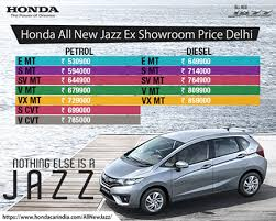honda jazz car price honda jazz price colors specifications and reviews india