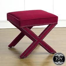 Ottoman Red by Ottomans Red Velvet Round Ottoman Pink Tufted Chair And Red