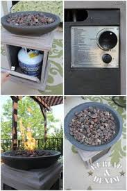 Diy Gas Fire Pit by A Flower Pot Big Enough To Hold A Propane Tank A Circular Wooden