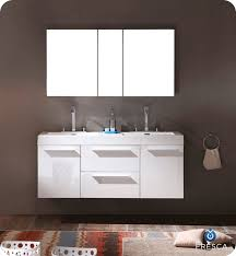 54 u201d fresca opulento fvn8013wh white modern double sink bathroom