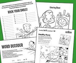 free dental health activity sheets for kids american dental
