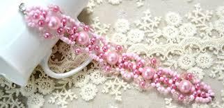 pink beads bracelet images Easy tutorial on making a cute pink pearl bead bracelet for spring jpg