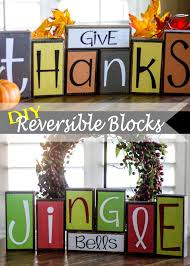 Homemade Thanksgiving Decorations by Diy Reversible Holiday Blocks 100 Days Of Homemade Holiday