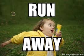 Meme Running - tha well you know the myth about black people running at the