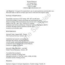 qa cover letter qa tester resume sles