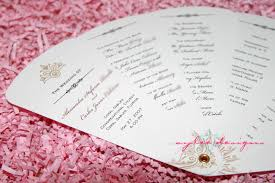 wedding program designs choosing the fan style of your wedding programs