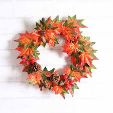 aliexpress buy thanksgiving day wreath maple leaf fall pine