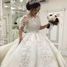 robe de mariã e princesse dentelle 2017 princesse robes de bal arabe robe de mariage de cru de luxe