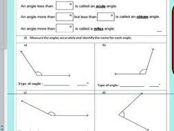 drawing angles and measuring angles using a protractor ks2 year
