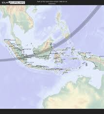 Map Of Jakarta The Total Solar Eclipse Of 03 18 1988