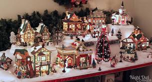 christmas villages decorating ideas for christmas villages decorating tables christmas
