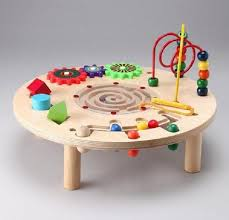 wooden activity table for wooden baby activity table table designs
