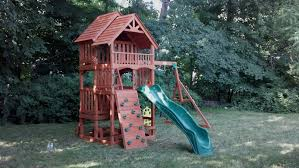 Big Backyard Savannah Playhouse by Get It Assembled Swing Set Installers Playset Installations