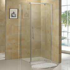 bathroom neo angle corner shower enclosure with white acrylic