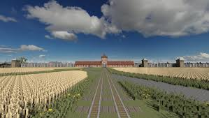 minecraft halloween city auschwitz birkenau oswiecim poland minecraft project