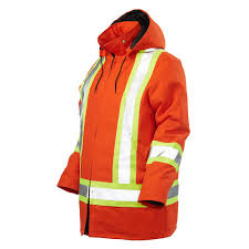 work king s432 quilted poly hi vis freezer jacket orange s 5xl