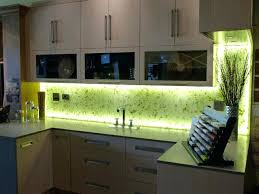 Green Glass Backsplashes For Kitchens Illuminated Kitchen Backsplash With Rice Paper Leaves Into Glass