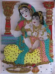 how to paint glass tanjore painting ahil art