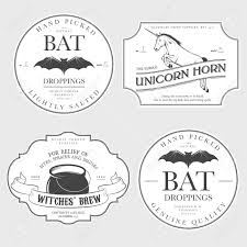 funny vintage halloween potion labels royalty free cliparts
