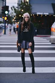 how to wear over the knee boots in fall just the design